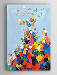 pintados à mão pintura a óleo fixo colorido com moldura abstracta esticado arts® 7 parede
