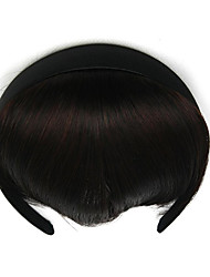 verworrene lockige braune Hemmende Stirnband Menschenhaar spinnt Chignons 2/33