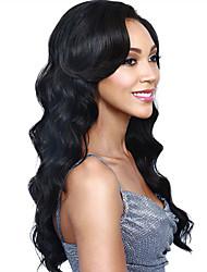 моды природные золотые волны высокого качества черного цвета синтетических волос