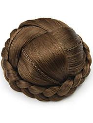 Kinky фигурные коричневый европы маленький человеческих волос монолитным парики шиньоны 7027