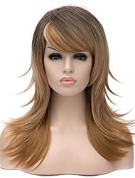 las mujeres de color ombre popularmente señora pelucas sintéticas de venta caliente en Europa y América