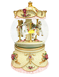 ABS Yellow/Purple/Pink Creative Romantic Music Box for Gift