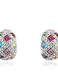 Thousands of colors Stud Earrings Women's Alloy Earring Crystal-2-1046