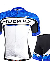 NUCKILY® Cycling Jersey with Shorts Men's Short Sleeve Bike Breathable / Ultraviolet Resistant / Reflective Strips / Back PocketArm