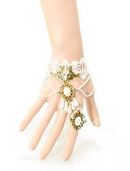 Armbänder Bettelarmbänder Ring-Armbänder Spitze Böhmen-Art Gothic Halloween Hochzeit Party Schmuck Geschenk Schwarz Weiß,1 Stück
