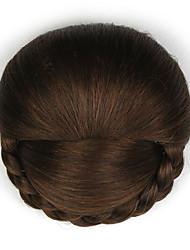 Kinky кудрявый коричневого европы невесты человеческих волос монолитным парики шиньоны dh103 2009