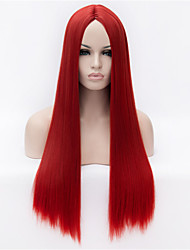 The New  Wig  in Red Long Straight Hair Wigs 30 Inch