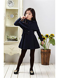 Girl's Casual/Daily Solid Down & Cotton Padded,Cotton Winter Blue / Red