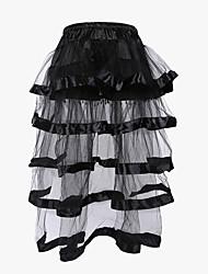 Для женщин Корсет под грудь Классический корсет Платье-корсет Большие размеры Ночное бельеМатовый черный Ретро Сексуальные платья