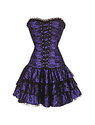 Women Overbust Corset Dress