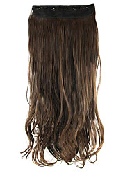 Length Dark Brownk 60CM High Hemperature Wire Wig Hair Extension Synthetic Hair