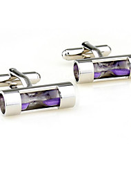 Men's Fashion Sand Clock Silver Alloy French Shirt Cufflinks (1-Pair)