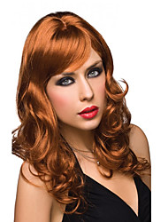 Fashion Natural Waves of High Quality Brown Color Synthetic Wigs