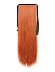 Light Borwn Length 60CM Synthetic Bind Type Long Straight Hair Wig Horsetail(Color 119)