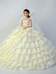 Wedding Dresses For Barbie Doll Beige Dresses