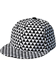Women Wool Spring Fluorescent Color Triangle Geometric Grid Pattern Hip-hop Visor Hat