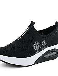 Scarpe Donna-Sneakers alla moda-Tempo libero / Casual / Sportivo-Comoda-Piatto-Tulle-Nero / Grigio / Fucsia