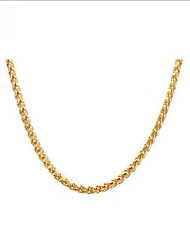 Women's Chain Necklaces Stainless Steel Gold Plated 18K gold Fashion European Jewelry For Daily Casual