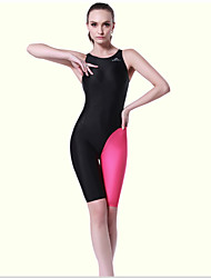 Sportif Femme Maillots de Bain Compression / Elastique One Piece Réglable Réglable Noir / Rose claire Noir / Rose claire XL / XXXL