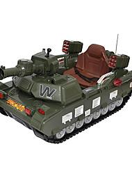 Tanque RC Car 2.4G Verde Pronto a usar Tanque / Controle Remoto/Transmissor / Carregador de Bateria / Manual do Usuário