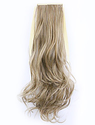 Borwn Length 50CM Factory Direct Sale Bind Type Curl Horsetail Hair Ponytail(Color 12/613)