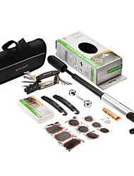 sahoo 16 in 1 Fahrrad Radfahren Reifen-Reparatur-Multi-Tool-Set-Kits mit tragbaren Minipumpe Fahrrad-Reparatur-Tools