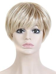 résistant à la chaleur courtes perruques bon marché faux perruque de cheveux droites blondes synthétiques pour les femmes