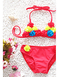 Girl's Cute Handmake Flowers Bikini Set