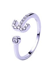 Sterling Silver Ring Couple Rings Wedding / Party / Daily 1pc/Packaging/Rub silver cloth free Promis rings for couples