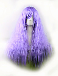 Best-selling Europe And The United States A Wig Purple Corn Hot Side Curly  Hair Wigs