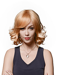 Woman's Popular Fluffy Wavy Virgin Remy Human Hair Hand Tied -Top Emmor Wigs