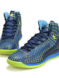Men's Basketball Shoes Green / Navy / Orange