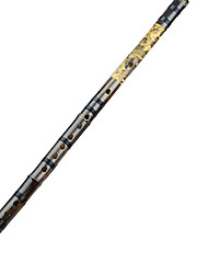 A Carved Dragon Flute Flute Shichiku Tie Nylon Black Bamboo Flute