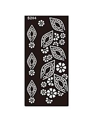 1pc henné fleur de style dame indien autocollant temporaire femmes pochoir pvc corps art du tatouage s204