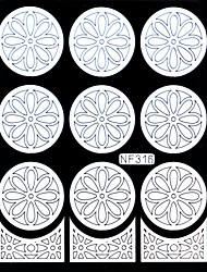 Nail Art Template Sticker-(NF316-White)