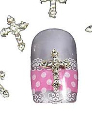 10pcs strass argent art accessoires Conseils passage des doigts de la décoration des ongles