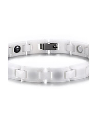 Women's Jewelry Health Care White Ceramic Magnetic Bracelet
