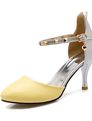 Women's Spring / Summer / Fall Heels Leatherette Wedding / Dress / Casual / Party & Evening Stiletto Heel Black / Yellow / White