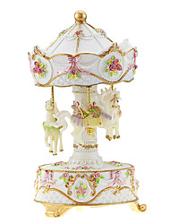 ABS Pink/Yellow/White Creative Romantic Music Box for Gift