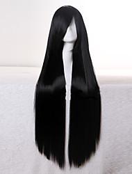 mode synthétique les perruques de cheveux de qualité supérieure très longue droite noire 1b couleur femme