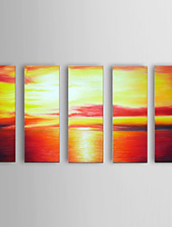 Handpainted Oil Paintings Modern Sea View Canvas Material with Stretched Frame Ready To Hang