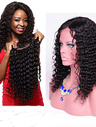 Brazilian Curly Human Hair Wigs 18inch Deep Curly Lace Front Wigs 130denity  Large Stock