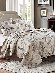 "3PC Quilt Sets Full Cotton Shell Pattern 90""W*98""L"