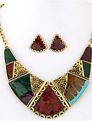 Schmuckset Halskette / Ohrringe Modisch Muster Europäisch Geometrische Form Regenbogen Halsketten Ohrringe Für Party Alltag Normal 1 Set
