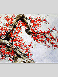 Flower Style Canvas Material Oil Paintings with Stretched Frame Ready To Hang Size 90*60CM