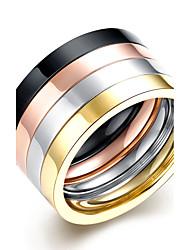 Муж. Кольцо Бижутерия Круглый дизайн Двойной слой Multi-Wear способы бижутерия Титановая сталь Круглой формы Бижутерия Назначение