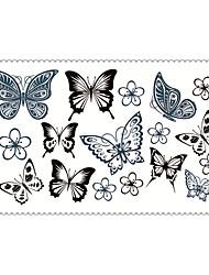 Art und Weise temporäre Tattoos Schmetterling sexy Body-Art wasserdicht Tattoo-Aufkleber 5pcs (Größe: 2,36 '' von 4,13 '')