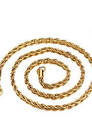 Feminino Gargantilhas Moda Dourado Ferro Jóias Para Diário Casual 1peça