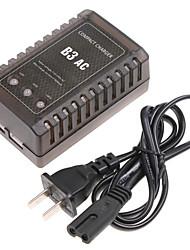 digital profissional carregador 7.4-11.1v 2s bateria b3 ac lipo equilíbrio carregador para automóvel rc avião