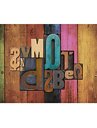 Shinny Leather Effect Large Mural Wallpaper Colourful Letter Art Wall Decor Wall Paper